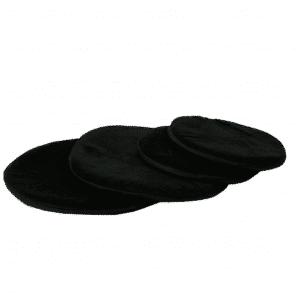 Kissen für Klangschale flach rund schwarz (20 cm)