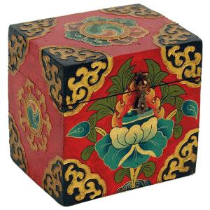Schatzkiste Tibetisch (15 x 12 x 12 cm)