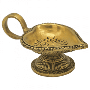 Orientalische Öllampe herzförmig