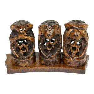Statue Affen nicht Hören, Sehen und Sprechen
