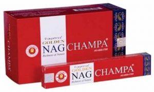 Räucherstäbchen Golden Nag Champa (12 Packungen)