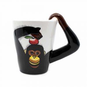 Tasse Handbemalter Affe
