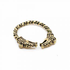 Verstellbarer Wikinger-Ring Golddrache