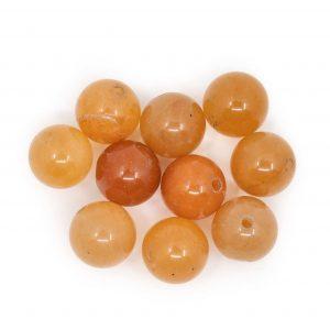 Edelstein Lose Perlen Roter Aventurin - 10 Stück (10 mm)