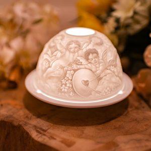 Stimmungslicht Porzellan Engelsliebe