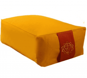 Meditationskissen/Bolster gelb 3. Chakra (38 x 28 x 15 cm)
