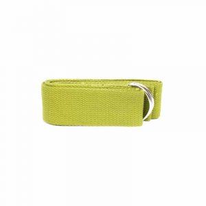 Yogagurt D-Ring Schnalle olivgrün Baumwolle (183 x 4 cm)