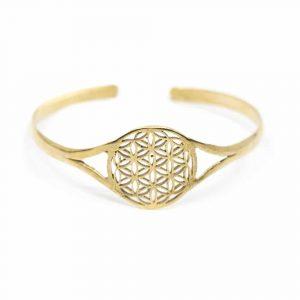 Armband Blume des Lebens verstellbar Gold Farbe