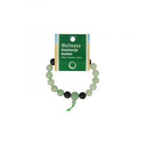 Powerbead Herren Armband Aventurin grün (21 cm)