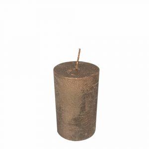 Kupferfarbene Stumpfkerze (8 x 5 cm)