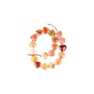 Edelstein Perlen-Strang Karneol-Herz