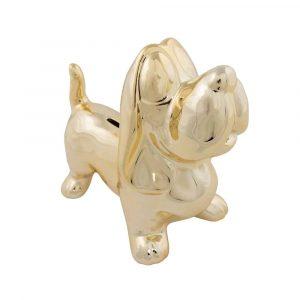 Goldfarbener Dackel Spardose (20,5 cm)