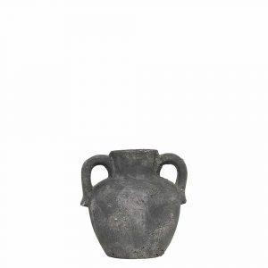 Krug Verwitterter Zement 2 Ohren Grau (16 cm)