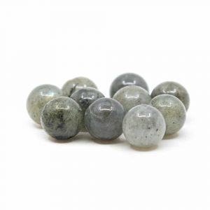 Lose Edelsteinperlen Spektrolith - 10 Stück (10 mm)