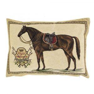 Gobelin Kissen Pferd mit rotem Sattel (45 x 31 cm)
