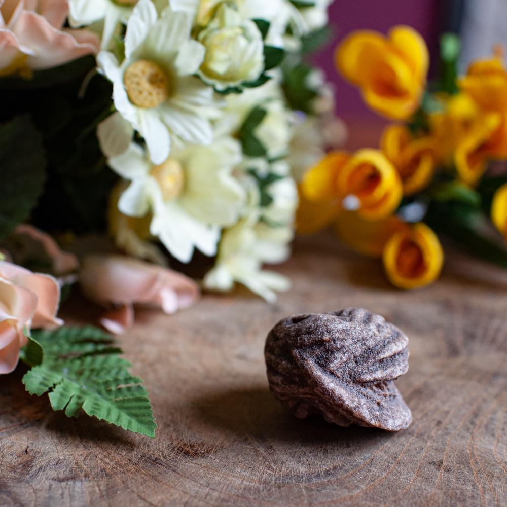 Wie entstehen Edelsteine Wüstenrose auf Holz mit Blumen