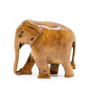 Elefanten-Statue aus Holz (8 cm)