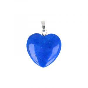Edelstein Anhänger Herz Howlith Blue (20 mm)