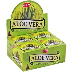 HEM Räucherkegel Aloe Vera  (12 Packungen mit 10 Kegeln)