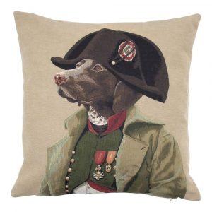 Gobelin Kissen Hund Napoleon (45 x 45 cm)