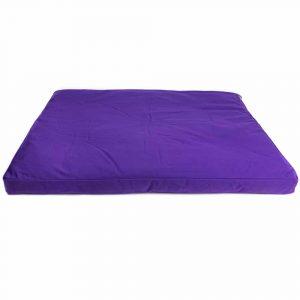 Meditationsmatte Zabuton Violett Baumwolle - 86 x 66 x 6 cm - inkl. Innenbezug