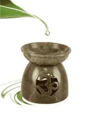 Duftlampe Ohm Speckstein poliert