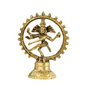 Shiva Nataraj Messing einzigfarbig - 10 cm