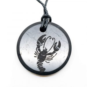 Schungit-Horoskop-Anhänger Krebs (30 mm)