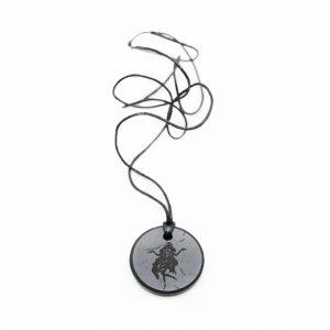Schungit-Horoskop-Anhänger Jungfrau (30 mm)