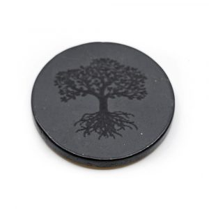 Telefon-Aufkleber Schungit - Baum des Lebens (30 mm)