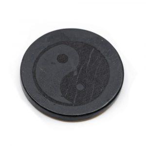 Telefon-Aufkleber Schungit - Yin & Yang (30 mm)