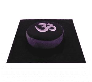 Meditations SET OM Symbol violett schwarz