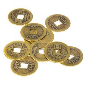 Chinesische Feng Shui Glücksmünzen (Set von 10)