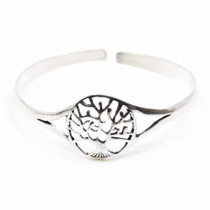 Armband Baum des Lebens Einstellbar Silber