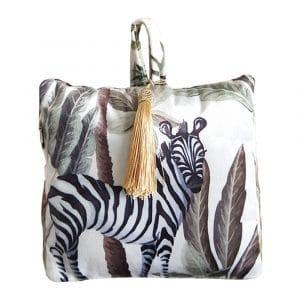 Türstopper Samt Dschungel Zebra