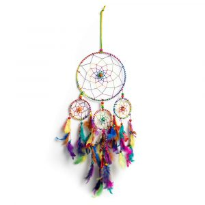 Traumfänger mit Chakra-Farben (55 cm)
