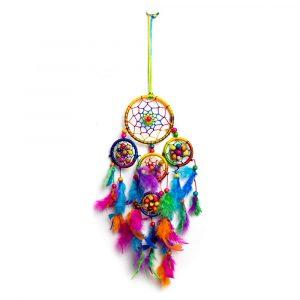 Traumfänger mit Chakra-Farben Klein