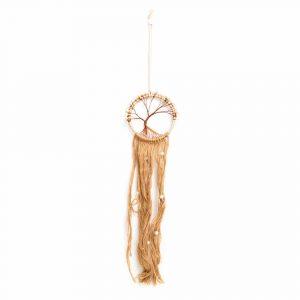 Traumfänger mit Lebensbaum geflochten Braun