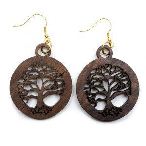 Ohrringe Baum des Lebens Holz