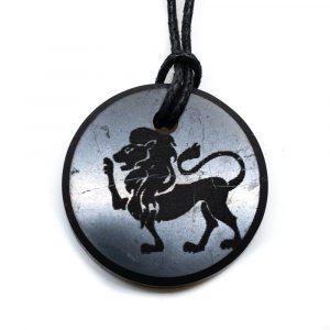 Schungit-Horoskop-Anhänger Löwe (30 mm)