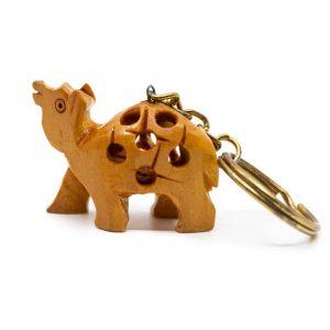 Schlüsselanhänger Holz Dromedar Handgefertigt (20 mm)