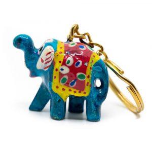 Schlüsselanhänger Elefant bemalt Überraschung (35 mm)