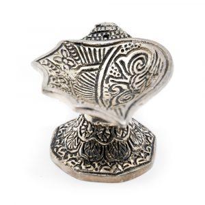 Traditionelle Räucherkegel Brenner Silber