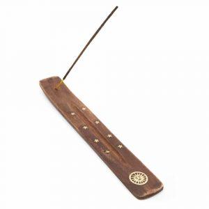 Räucherstäbchen-Halter Holz Sonne (25 cm)