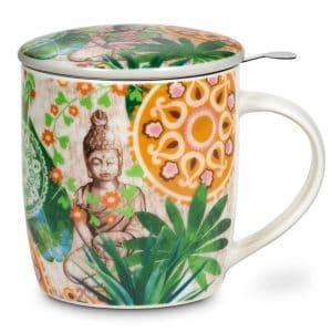 Box Teetasse mit Teesieb Buddha Paradies (400 ml)