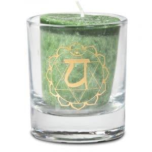 Votiv-Duftkerze viertes Chakra in Geschenkbox