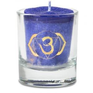 Votiv-Duftkerze sechstes Chakra in Geschenkbox
