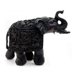 Elefantenstatue - Traditionelles Design (14 cm)