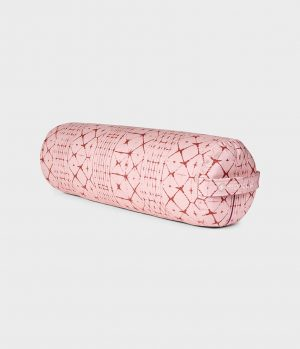 Manduka Yoga Bolster Star Dye Coral - Rosa - Rund Baumwolle – 69 x 23 cm