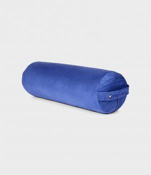 Manduka Yoga Bolster Surf - Blau - Rund Baumwolle – 69 x 23 cm